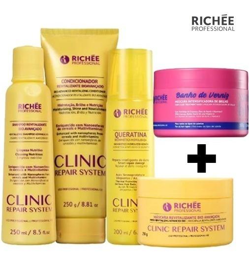 Richée Clinic Repair System Kit 4 Produtos + Banho De Verniz