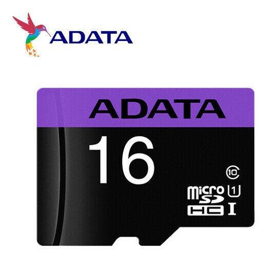 Cartão De Memória Adata Mlcrosdxc 16gb C10 Com Adaptador