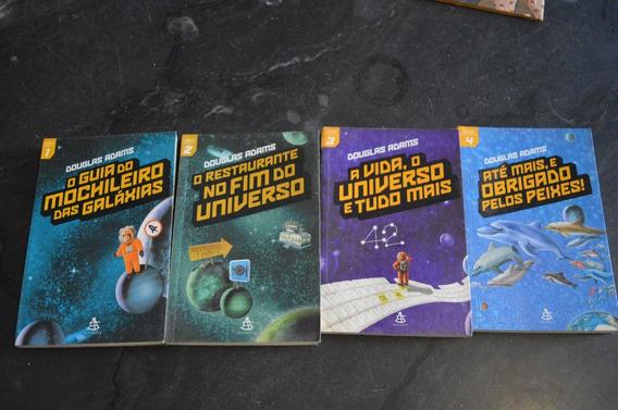 O Mochileiro Das Galáxias Douglas Adams Vol 1, 2, 3 E 4