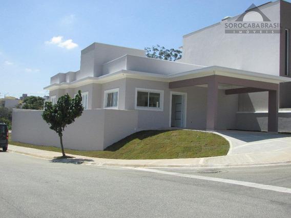 Casa Residencial À Venda, Condomínio Village Millano Em Sorocaba-sp, Área Construída 165m², 3 Suítes, 4 Vagas De Garagem. - Ca0061