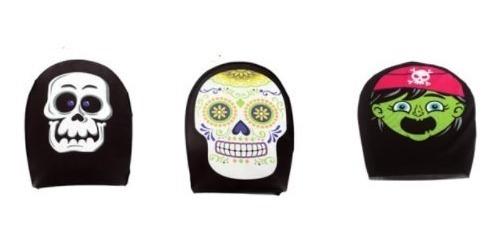 Kit 2 Máscaras Caveira Pirata Mexicana Halloween Carnaval