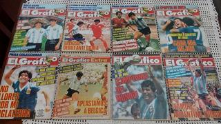 Colección El Gráfico Mundial 86 90 94 River Libertadores 86!