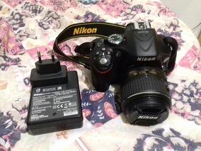 Câmera Nikon 5200 Com Cartão 64g Utilizada Uma Única Vez...
