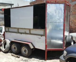 Vendo Remolque Cerrado Tipo Food Truck O Camper Cambio Auto