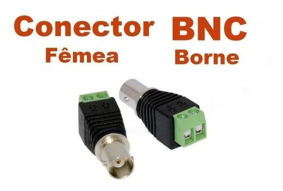 Kit 50 Conector Bnc Fêmea C/borne