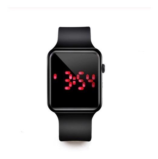 Relógio Digital Led Unissex Hora & Data - Frete Gratis