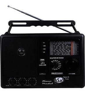 Radio Motobrás Rm Pft122ac Portátil C/usb 12 Faixas Novo