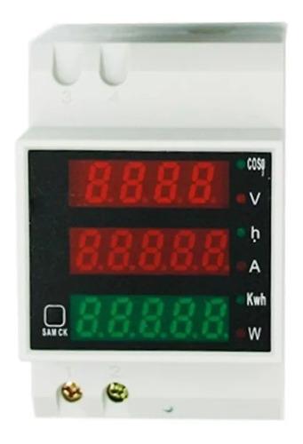 Imagen 1 de 2 de Voltimetro Amperimetro Potencia Ac Riel Din Zurich Tablero