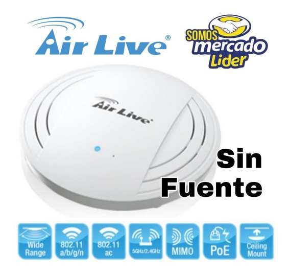 Access Point Airlive Ac.top Poe Poe 1200mbps Sin Fuente