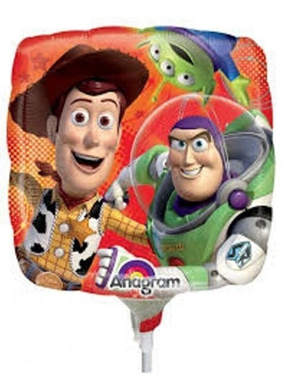 6 Globos Toy Story Buzz Centro Mesa Mix Metalico 9in Fiesta