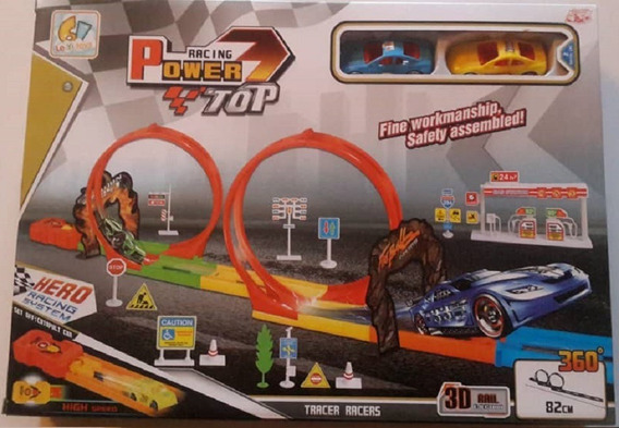 Pista De Carro Juguete Para Niños 82cms Incluye 2 Carros Hot