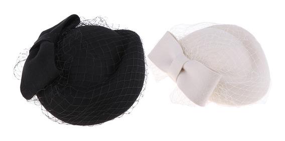 2x Sombrero De Lana Gorro Boina Francesa Con Lazo Malla