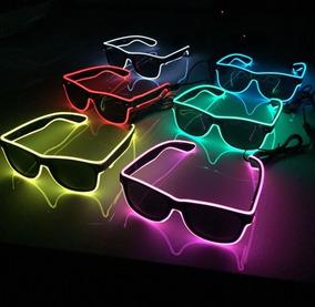 Óculos Neon Led Fumê Festa Balada Rave Tomorrowland A Pilha