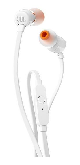 Fone De Ouvido Jbl T110 Branco Intra Auricular Com Microfone