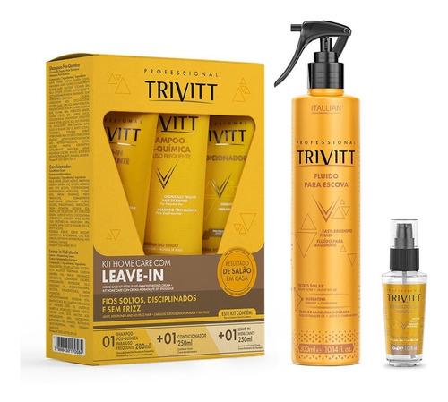 Kit 05 Produtos Trivitt Profissisional Itallian Faça Em Casa