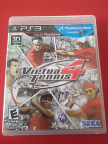 Consigo Frete Gratis Virtua Tennis 4 Ps3 Midia Fisica