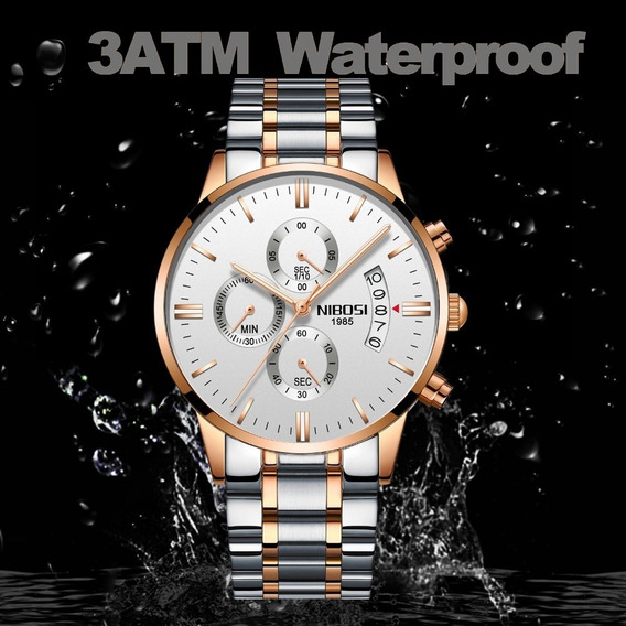 Relógio Masculino Quartzo Aço Inoxidável Original Oferta