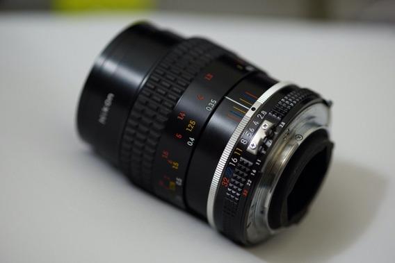 Nikon 55mm Micro 2.8 Imaculada Serve Fuji Sony Etc Com Adapt