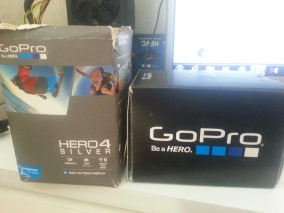 Base, Caixa, Manual E Outras Da Camera Golpro Hero 4