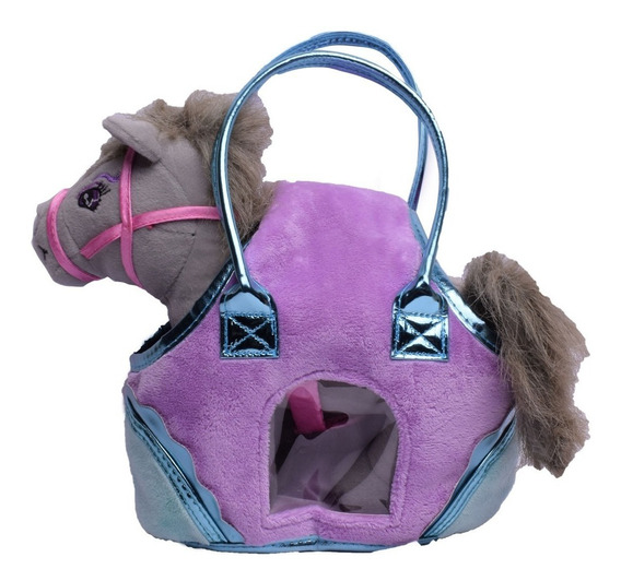 Peluche Mascota Caballo Con Cartera 27 Cm El Duende Azul