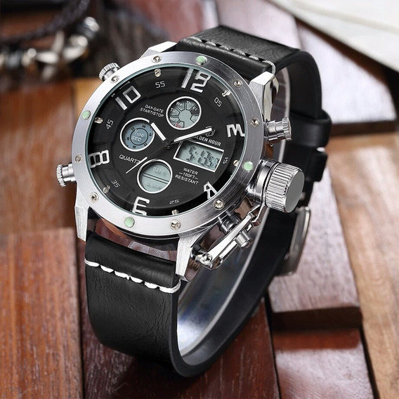 Relógio Esportivo Militar Golden Hour Analógico Digital