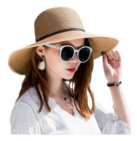 Sombrero Pava Mujer Sol Viaje Elegant 1 Unidad Playa Gorro