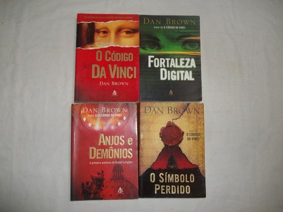 Lote 4 Livros Dan Brown Romances Titulos Conforme Foto