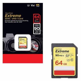 Cartão Memória Sdxc Uhs-i Extreme 64gb 90mb/s 4k Hd