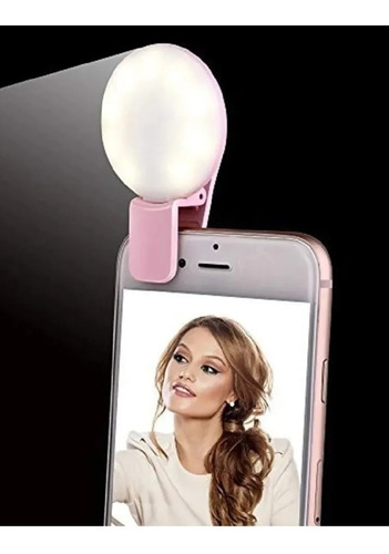 Imagen 1 de 6 de Aro Luz Led Selfie Ring. Es Recargable, No Requiere De Pilas