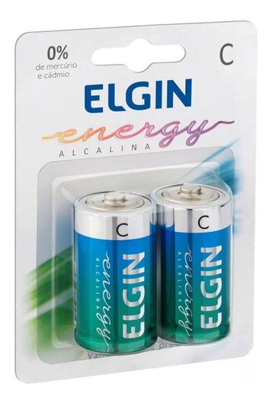 Pilha C Alcalina C/2 82156 Elgin
