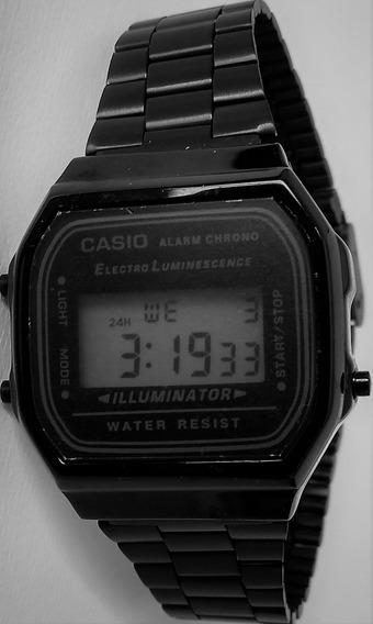 Relogio Casio Retro Black +caixa - Só Até Domingo Ca04