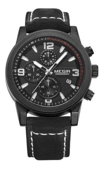 Relógio Masculino Megir 2026 Cronográfo Original