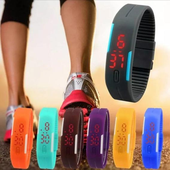 Relógio Digital Led Esportivo Bracelete Masculino E Feminino