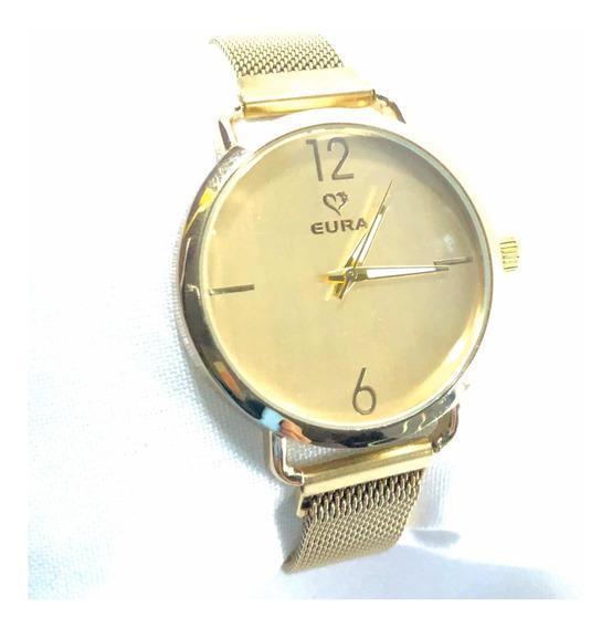 5 Kit De Relógios Marca Eura Fecho Imã Atacado