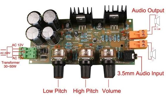 Kit Amplificador Tda2030a 2x18+18w