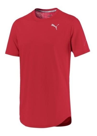 Puma Remera M/c Running Hombre Triblend Rojo
