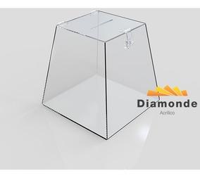 Caixa Urna Em Acrílico Transparente 25 X 22 X 17 -31.01
