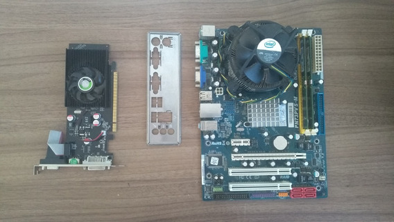 Kit Placa Mãe Dual Core 2,60 Ghz + 4gb 800 Mhz + Gt 210 1gb