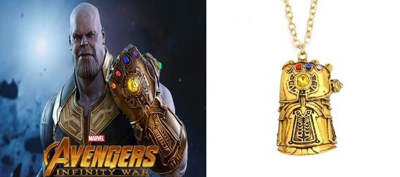 Corrente Colar Thanos Os Vingadores Guerra Infinita