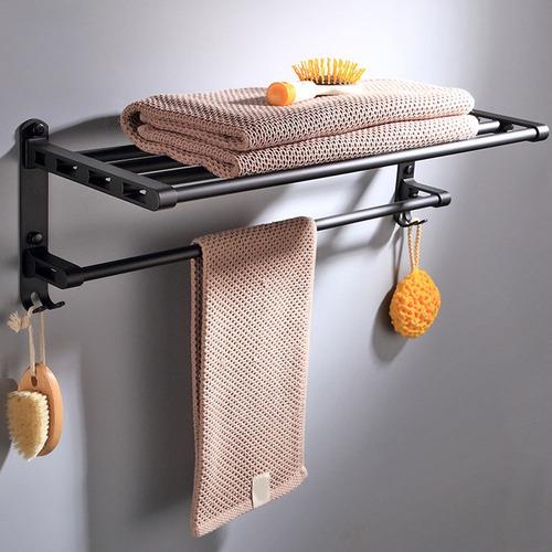 LHYOZ Espacio negro toallero de papel de aluminio titular de rollo de ingenier/ía del hotel al por mayor de alto grado grueso papel higi/énico titular de ba/ño gancho de toalla de papel Portarrollos