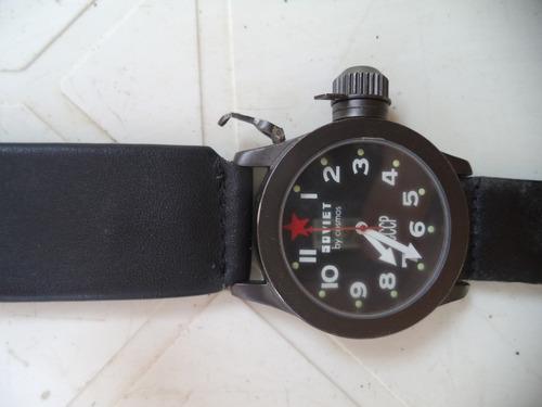 Relógio Soviet Cccp  Fundo Prêto