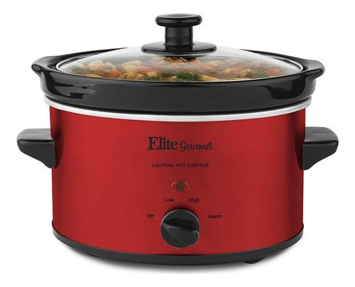 Elite Cuisine Mst-275xr Olla Electrica Lenta, Temperatura Aj