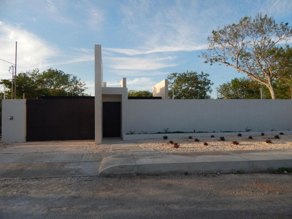 Preciosa Casa De 1 Planta En Temozón Norte Modelo Hamacas