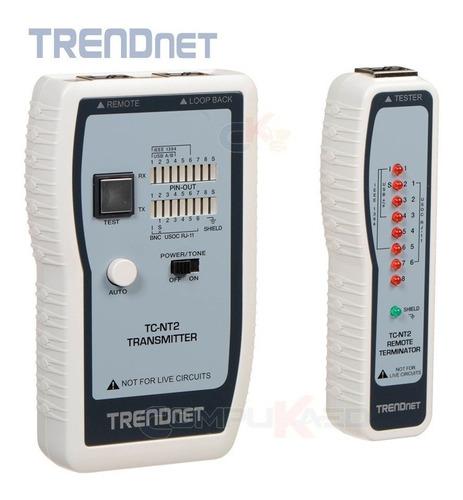 Lan Tester Probador De Cable De Red Trendnet Tc-nt2 Usb Bnc