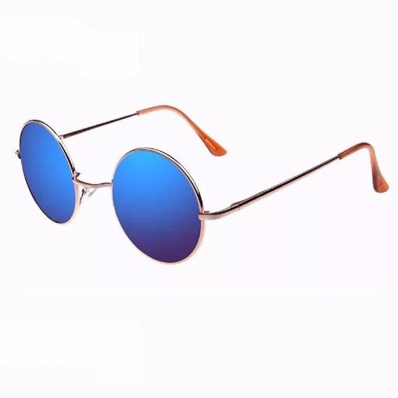 Óculos De Sol Redondo Unissex Estilo Ozzy John Lennon Cores