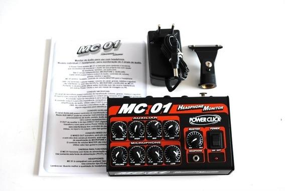 Amplificador Headphone Vocal Power Click Mc 01 C/ Fonte