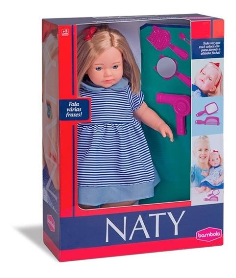 Boneca Bebê Naty Fala Frases 43 Cm Bambola Grande