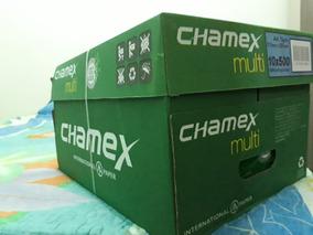 Caixa ..papel Chamex A4..com Dez Pacotes De 500 Folhas Cada