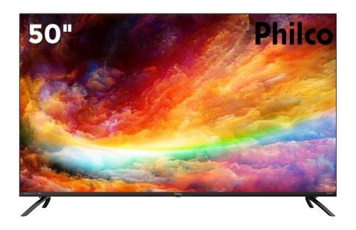 Imagem 1 de 5 de Smart Tv 50 Philco 4k Uhd Led Ptv50rcg70bl Hdr 4 Hdmi 2 Usb