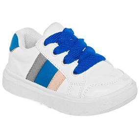 Tenis Sneaker Littlesteps Niños Sintético Blanco 62448 Dtt